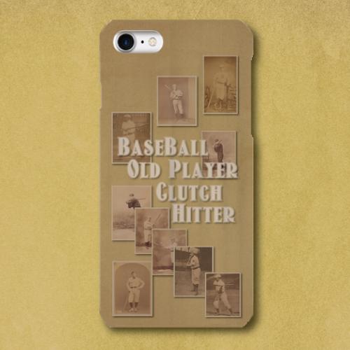 ベースボール・オールドプレイヤー/ iPhoneスマホケース(ハードケース)