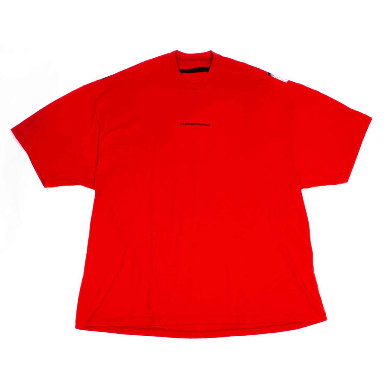 720CPM5-RED / オーバーサイズ バックプリント Tシャツ