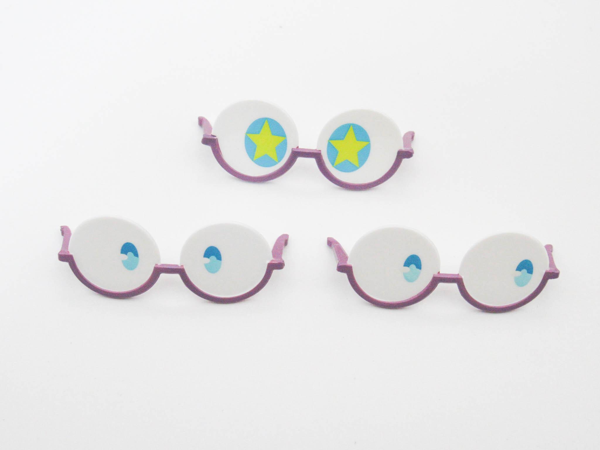 【859】 ロッテ・ヤンソン 小物パーツ メガネ3種 ねんどろいど