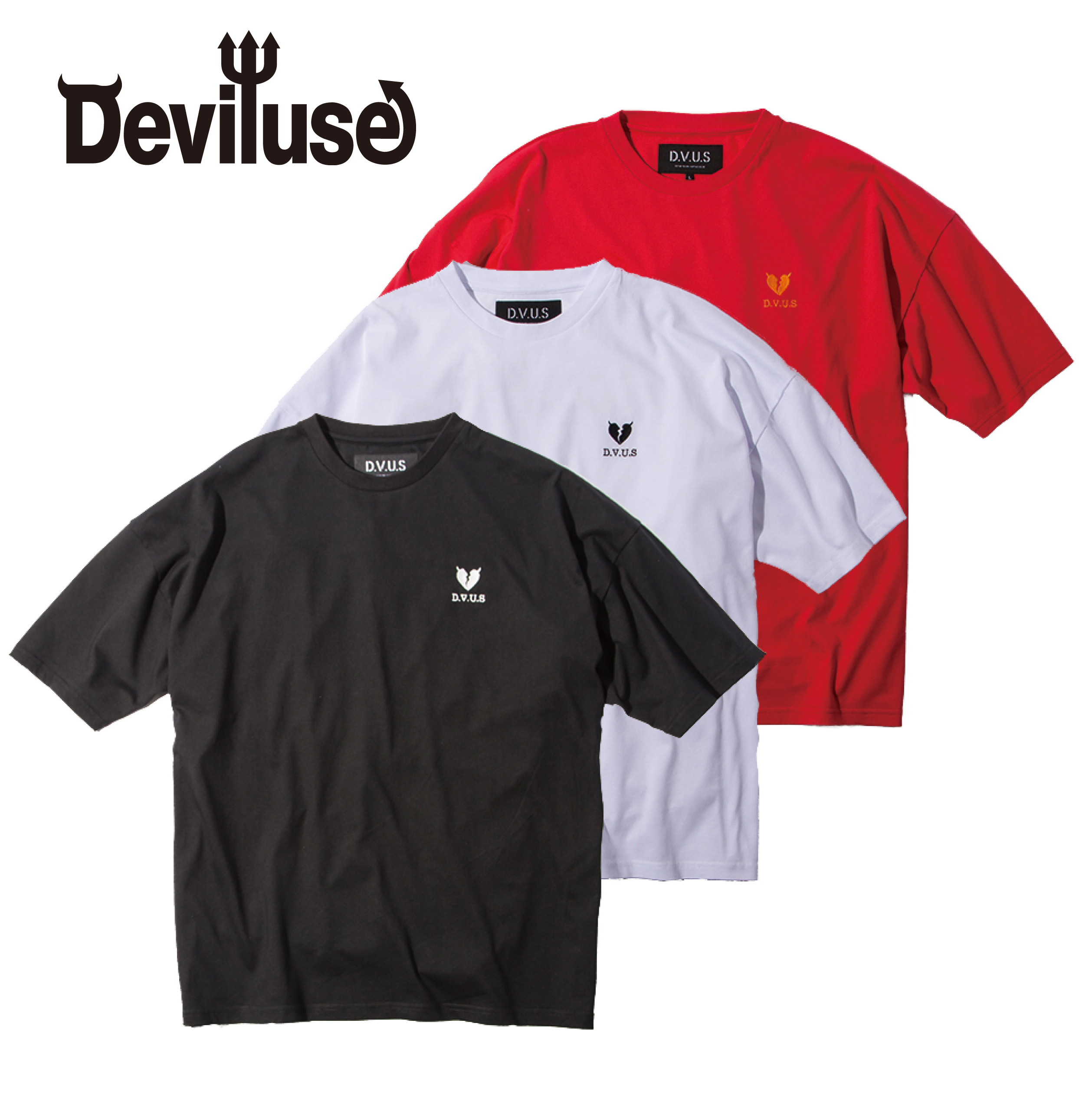 Deviluse(デビルユース) | Heartaches Big T-shirts