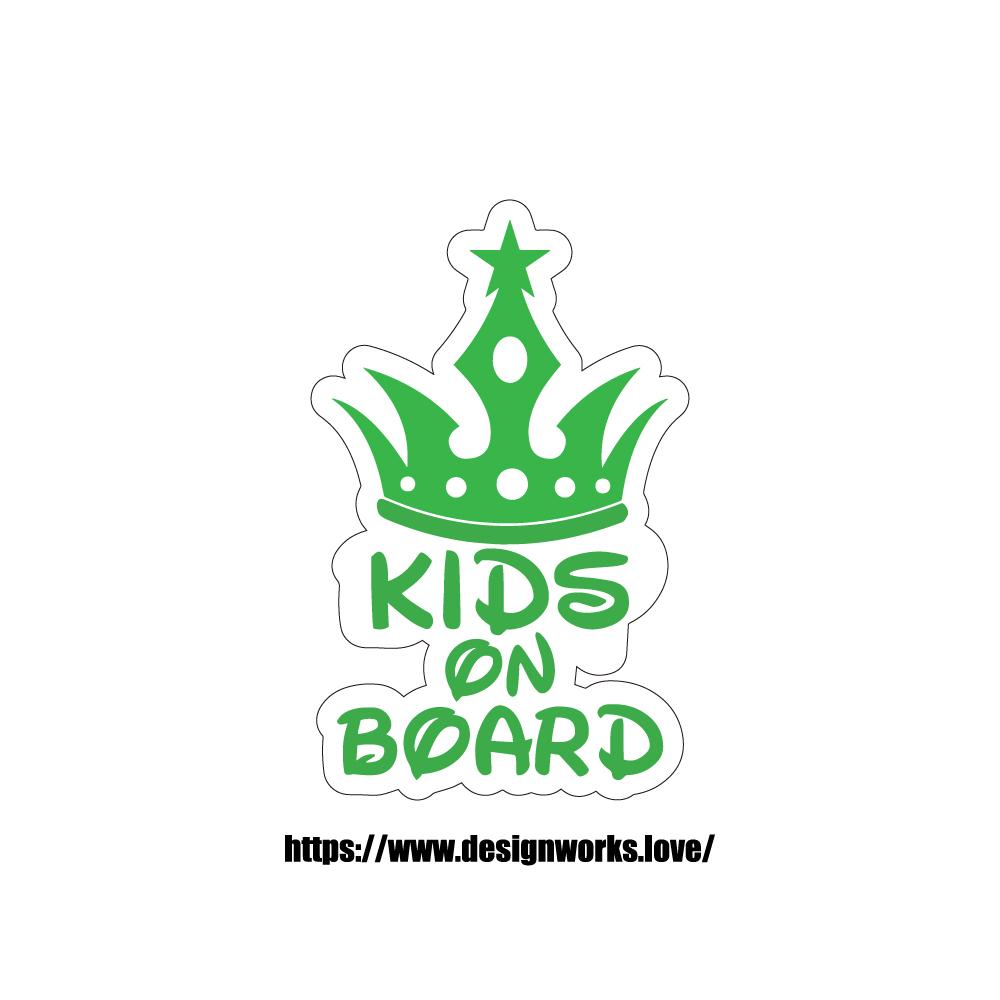 マグネット 全8色 KIDS ON BOARD クラウン 王冠
