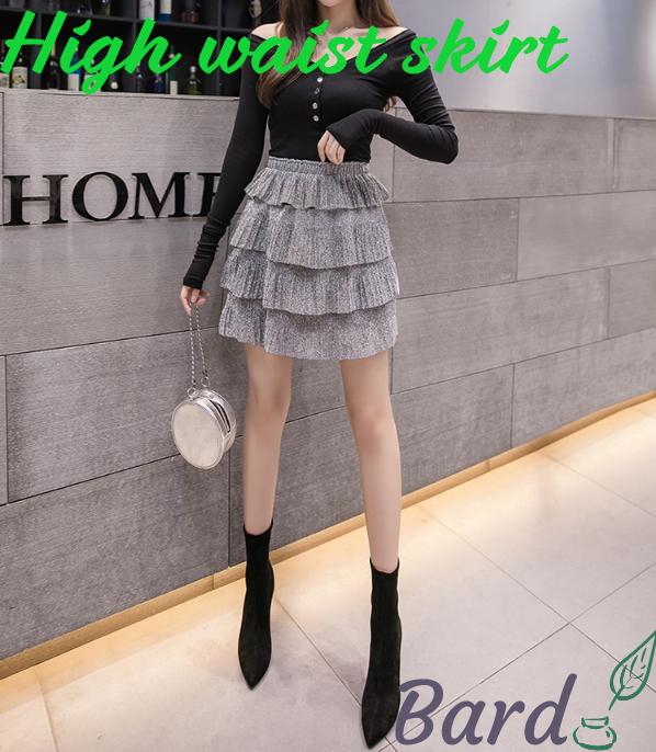 妖精シフォンスカート女性2019年夏の新しいフランスのニッチ層ケーキプリーツスカートハイウエストスカート