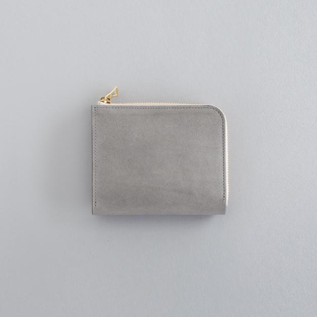 革の財布S グレー