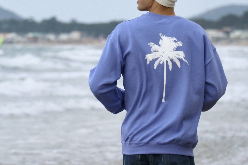 【1/15 21:00 販売開始】Palm tree SWEAT(lavender)