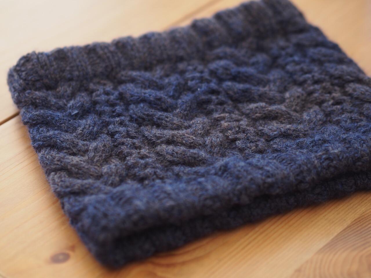 Natural knit ecru*[ダウンロード編み図]カウニスのネックウォーマー(◆カウニスのネックウォーマー.pdf)