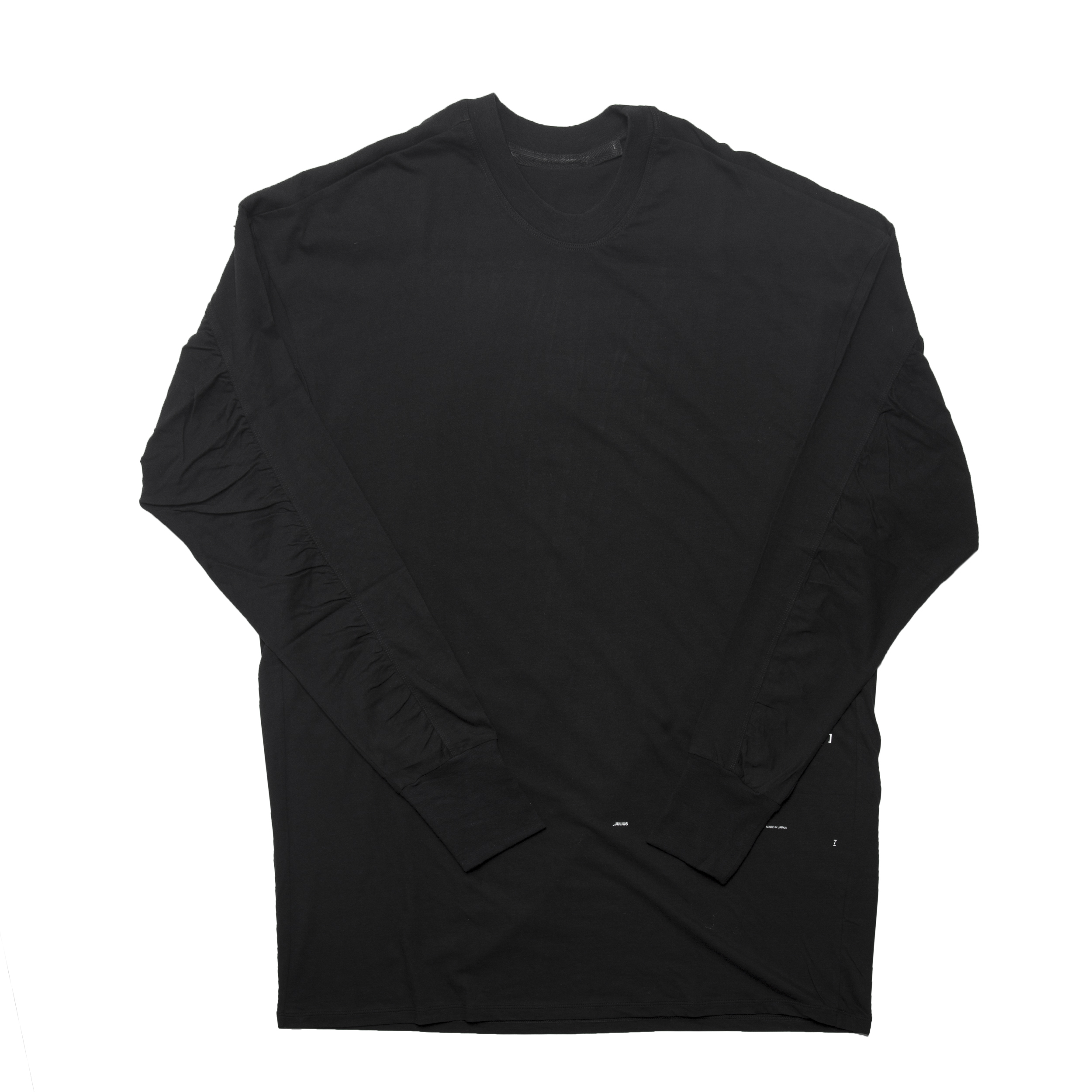 677CPM17-BLACK / ギャザーシームドロングスリーヴシャツ