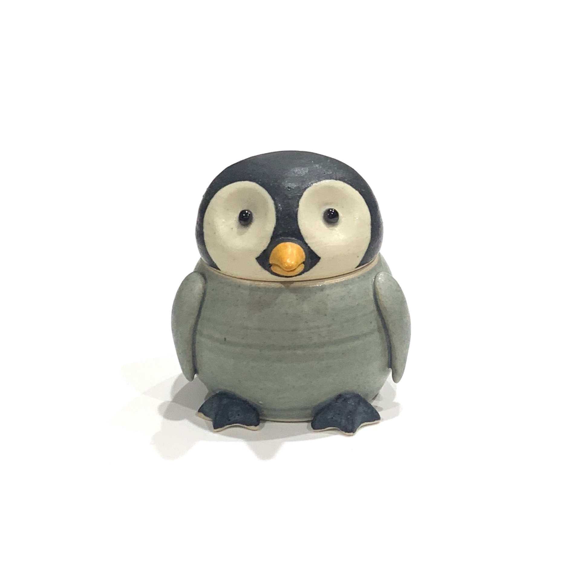 ペンギン  蓋物[八木下裕]