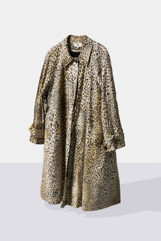 "90's ""Valentino"" Leopard Coat"