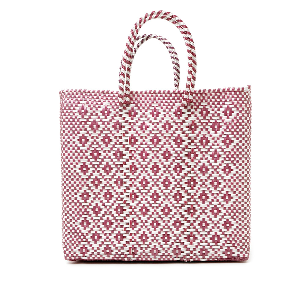 MERCADO BAG ROMBO METALIC - Metalic Pink x White(M)
