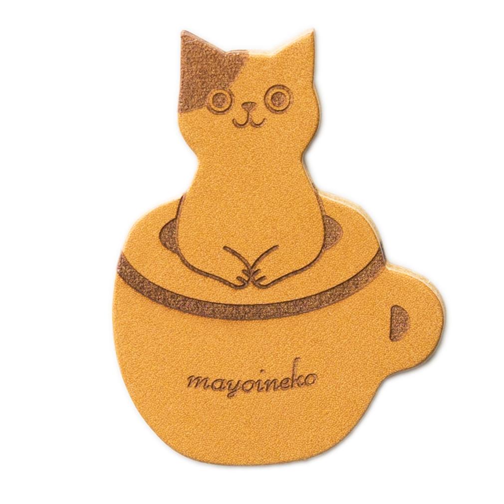 ブチ猫とコーヒーカップ 栞 ブックマーカー