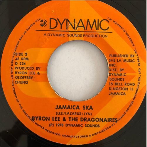 Byron Lee(バイロンリー), Dragonaires(ドラゴネアーズ) - Jamaica Ska【7'】