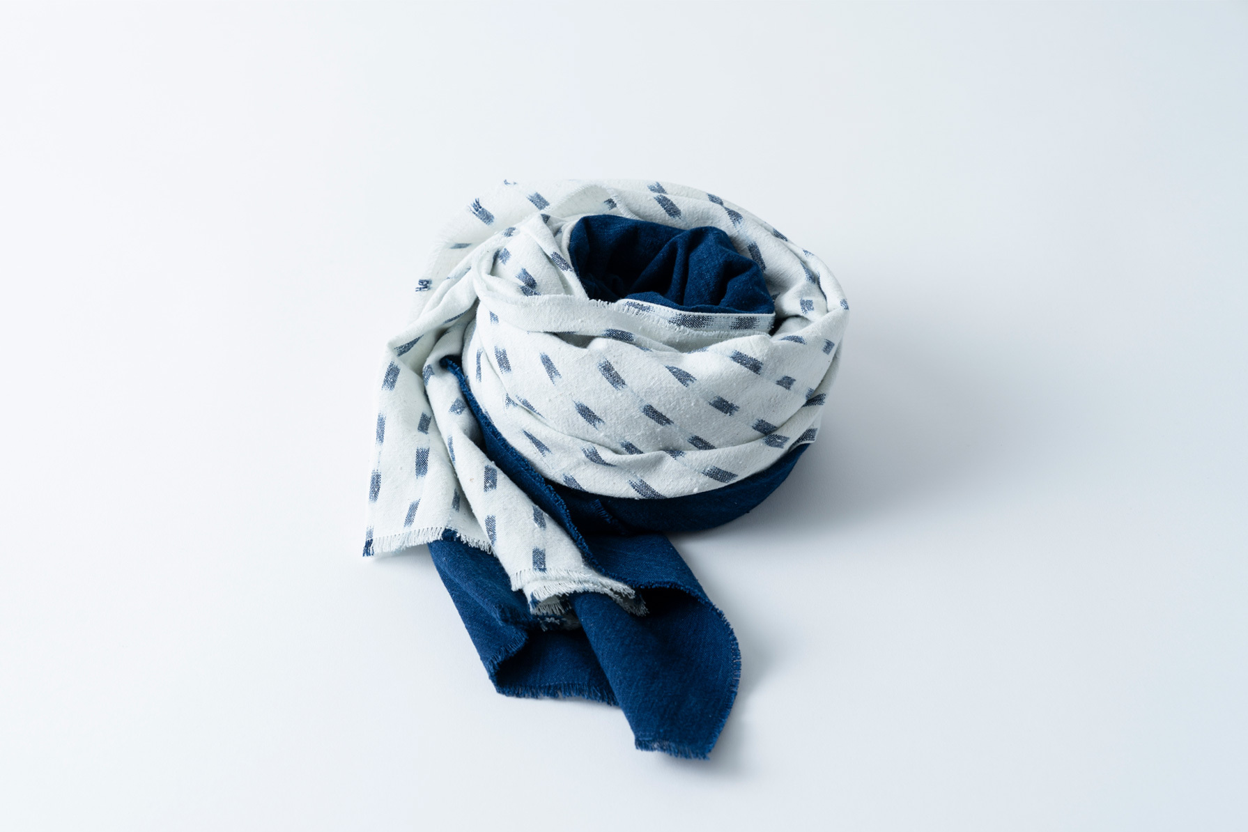008. 渚 × 藍 - bicolour seashore | stole