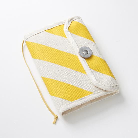book jacket/dandelion x stripe, scale, dot 文庫本カバー / 蒲公英 x 縞・鱗・水玉