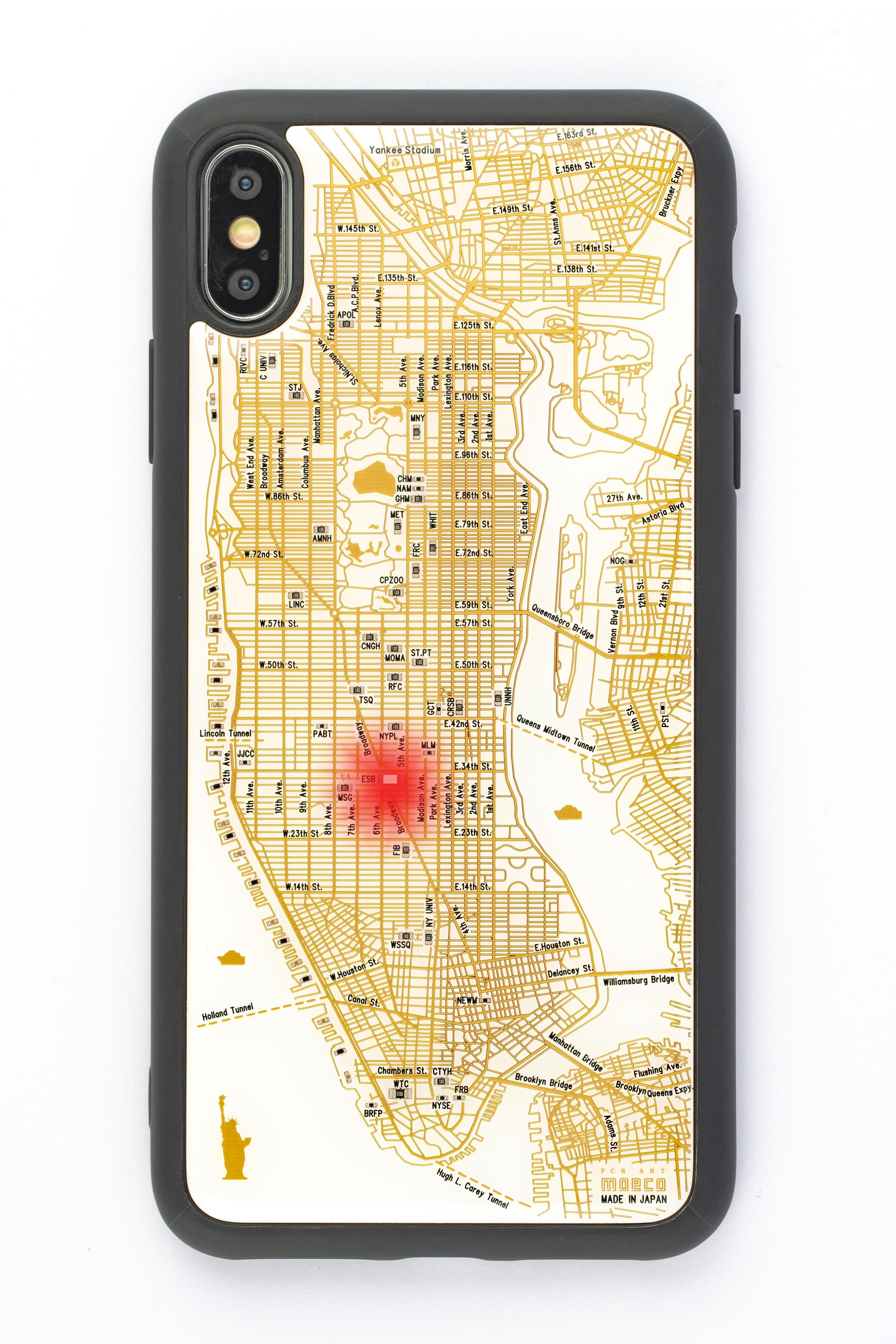 FLASH NY回路地図 iPhone XS Maxケース 白【東京回路線図A5クリアファイルをプレゼント】