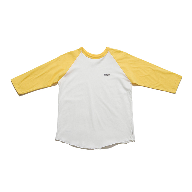 "SPICE COLOR R/S TEE ""FRUIT"" - YELLOW"