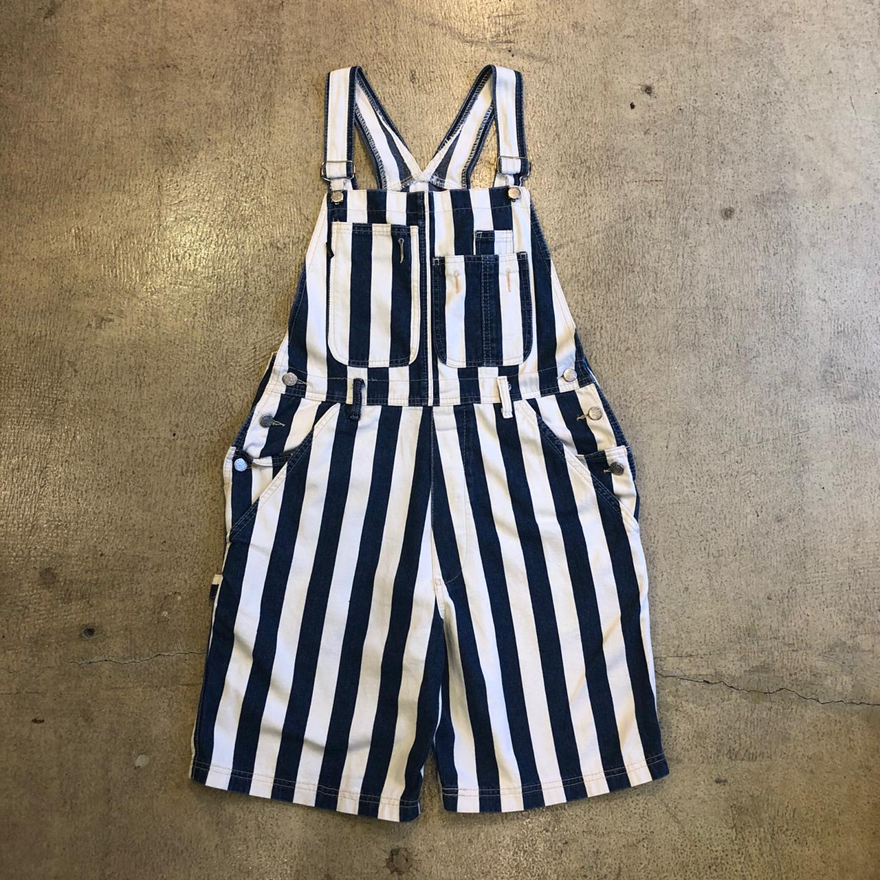 Silver Stripe Shortalls ¥8,600+tax