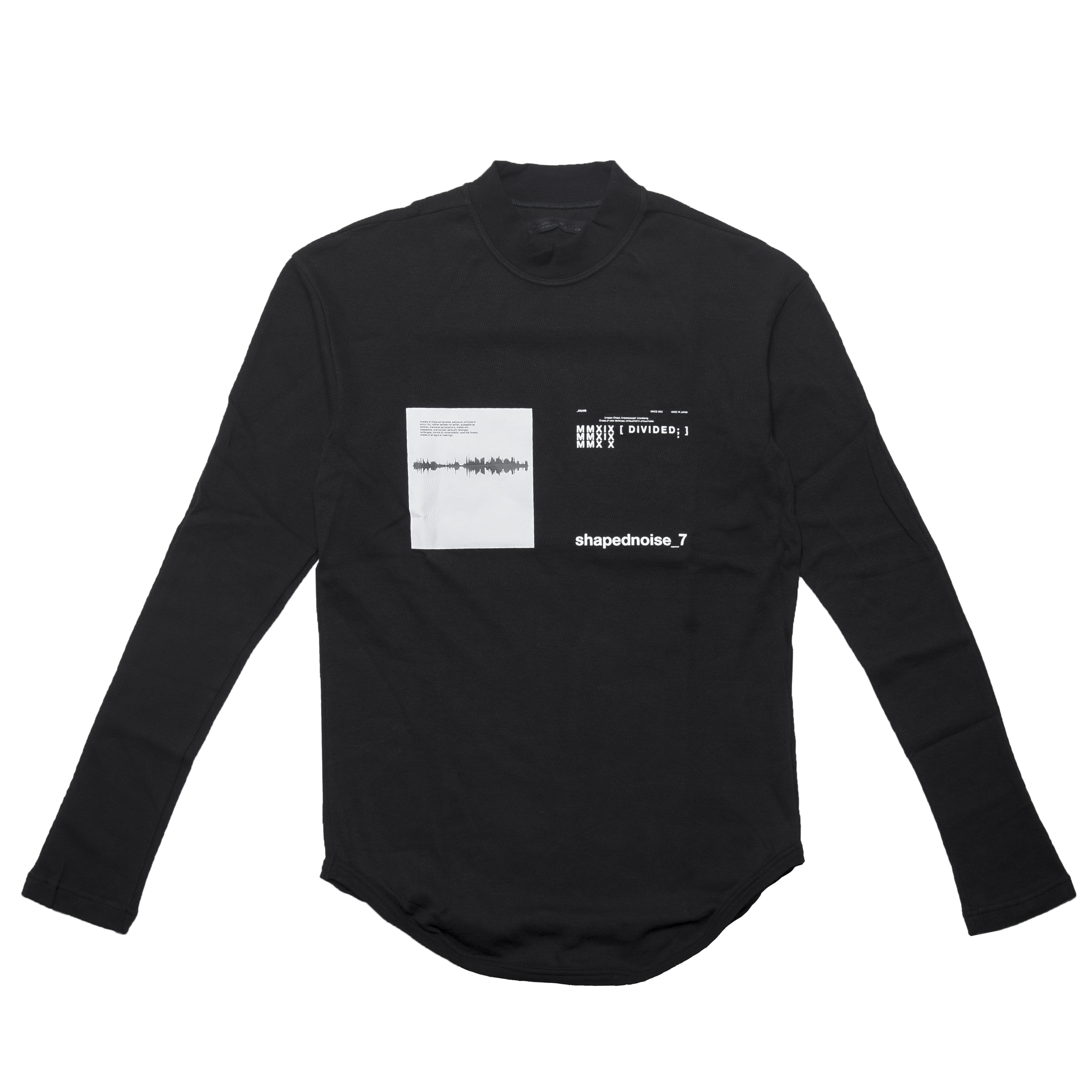 677CPM13-BLACK / Shaped Noise スキニーロングスリーブ Tシャツ