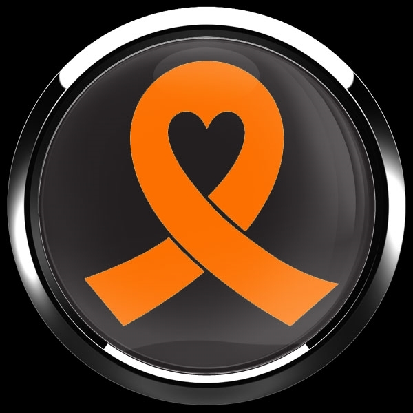 ゴーバッジ(ドーム)(CD0984 - ORANGE RIBBON BLACK (LEUKEMIA)) - 画像3