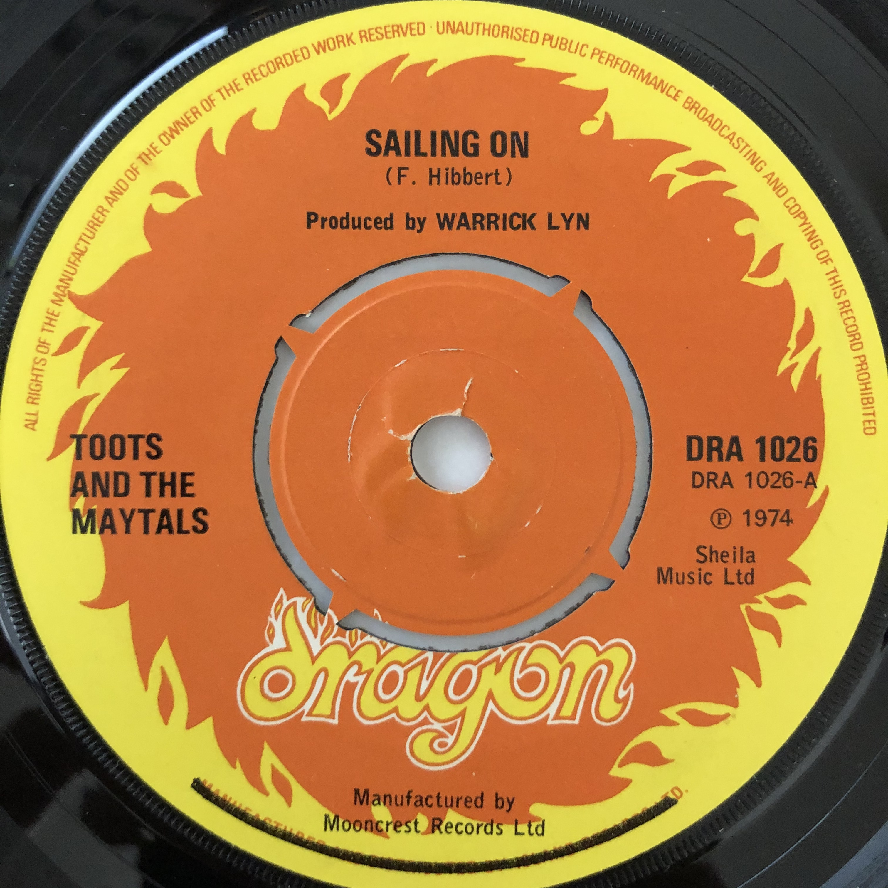Toots And The Maytals - Sailing On【7-20533】