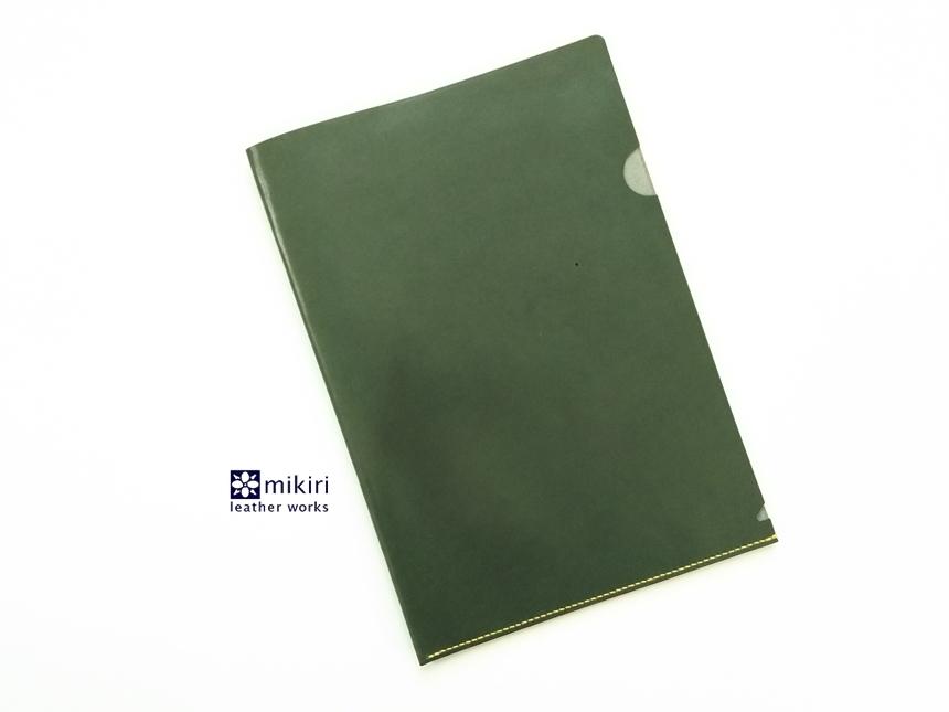 ◆刻印可◆クリアじゃないクリアファイル グリーン A4サイズ