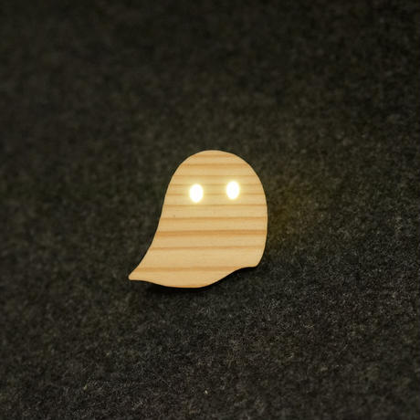 おばけパズルのLEDバッジ SUGI(熊本小国杉) / おばけパズル
