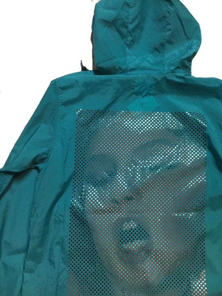 SKIN / nylon hoodie(blue) - 画像4