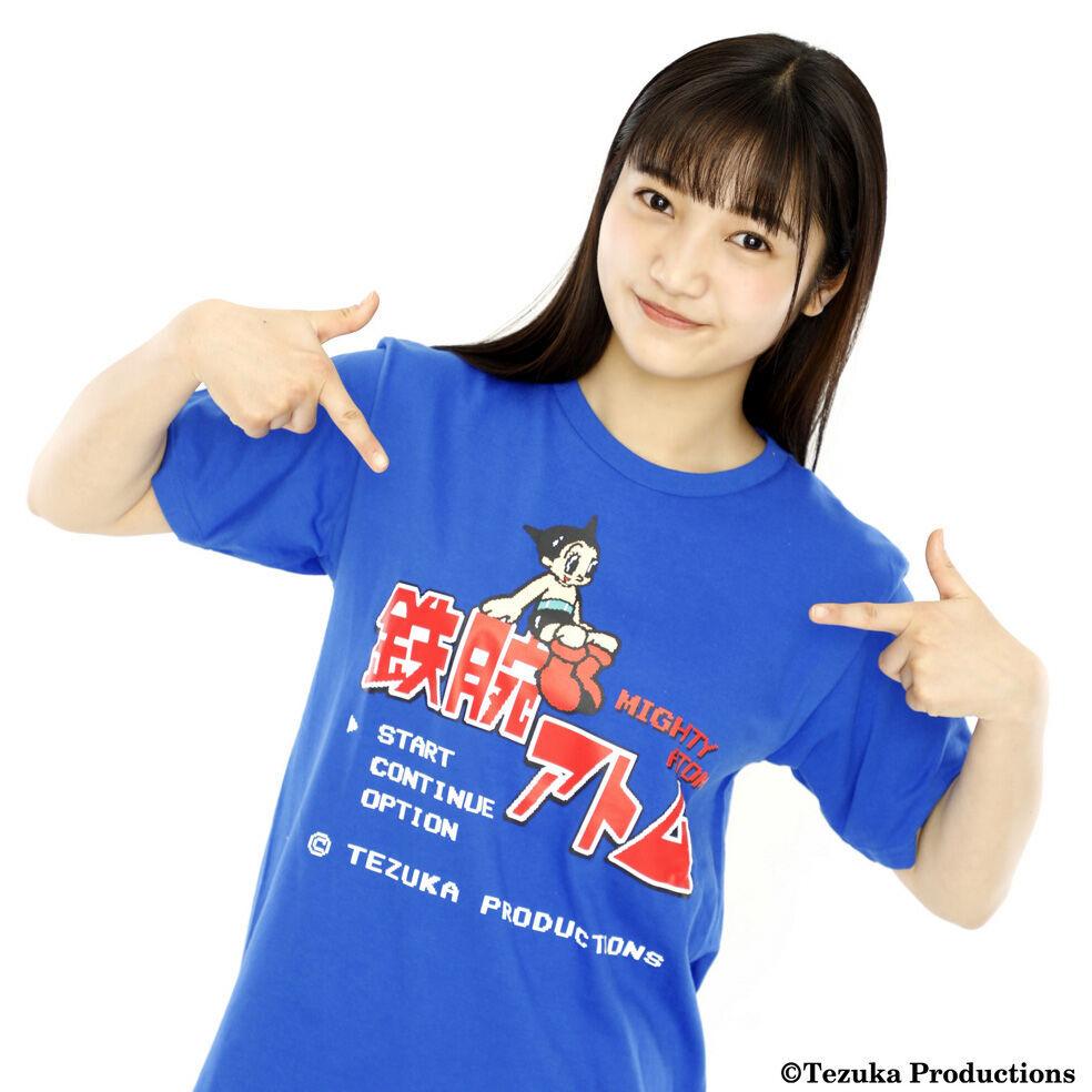 鉄腕アトム 8-bit Title Tシャツ -BLUE- / GAMES GLORIOUS