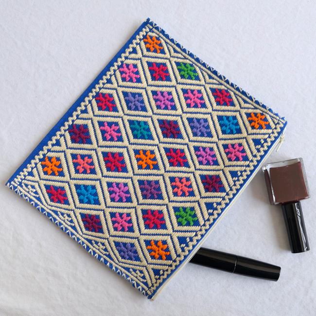 ララインサールの手織りポーチ/227c/ MEXICO メキシコ