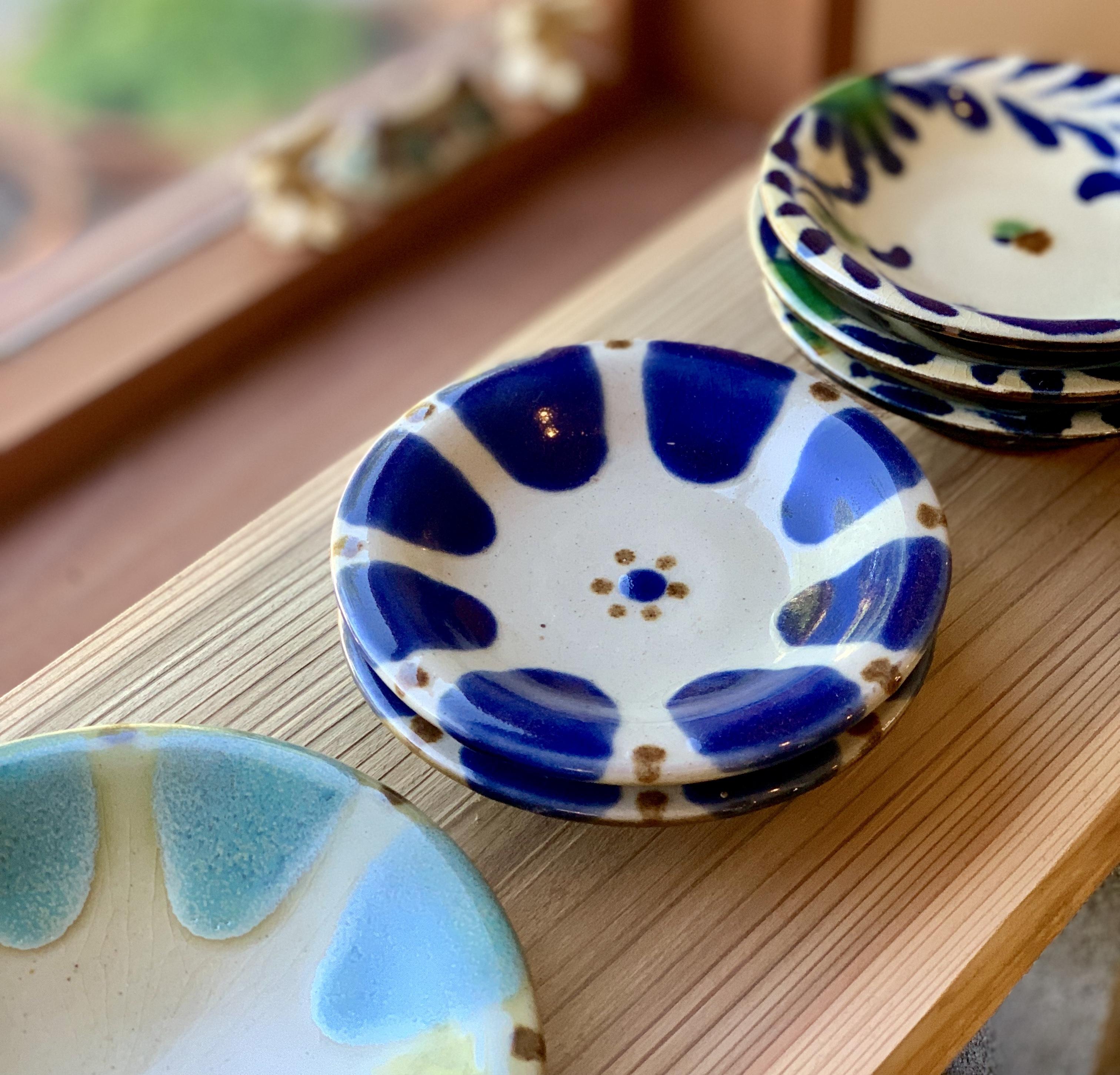 5寸皿 コバルト チチチャン ノモ陶器製作所