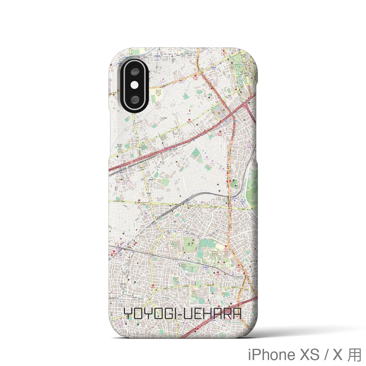 【代々木上原】地図柄iPhoneケース(バックカバータイプ・ナチュラル)