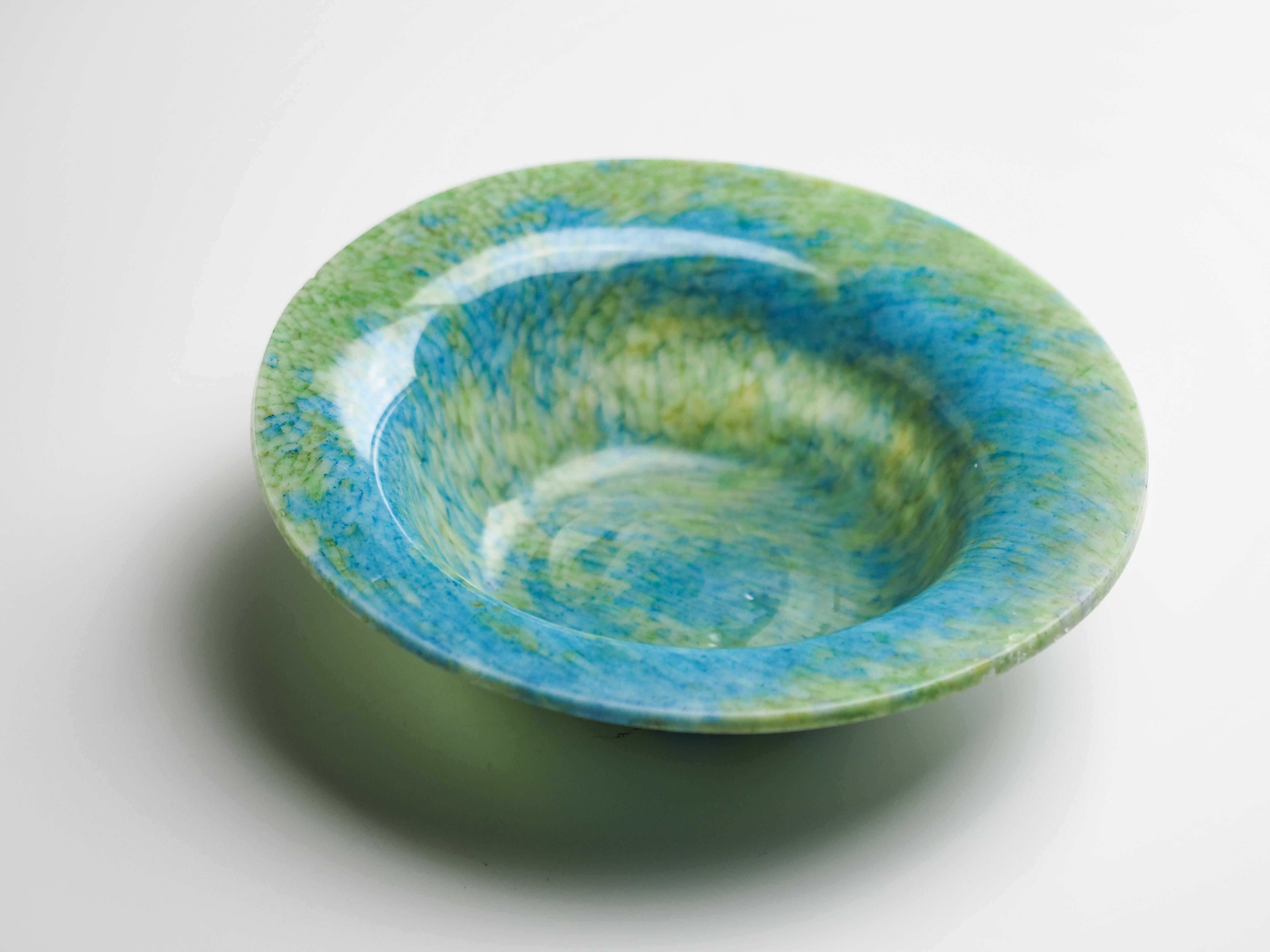 ボウル-N(青×緑)fb-n-9