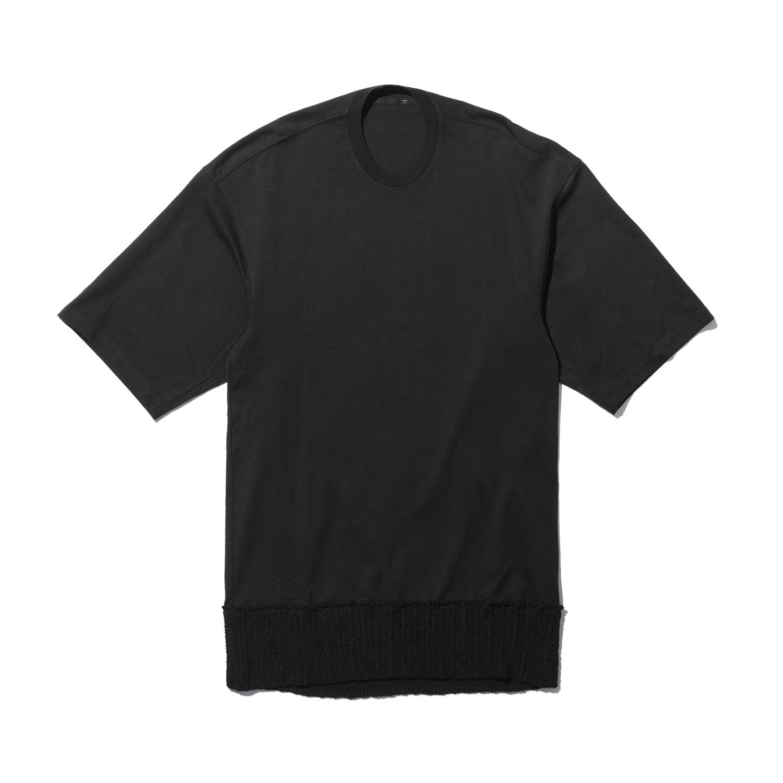 737CUM12-BLACK/ ニットヘム Tシャツ