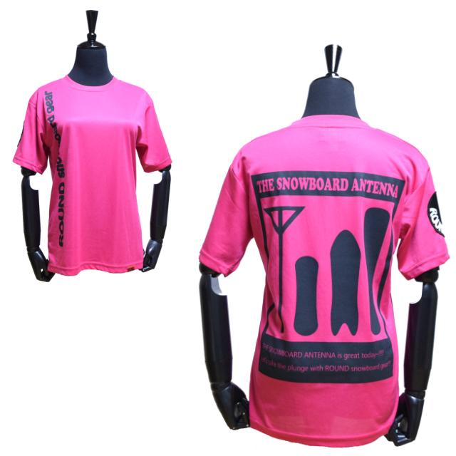 バックプリントTシャツ【ピンク】