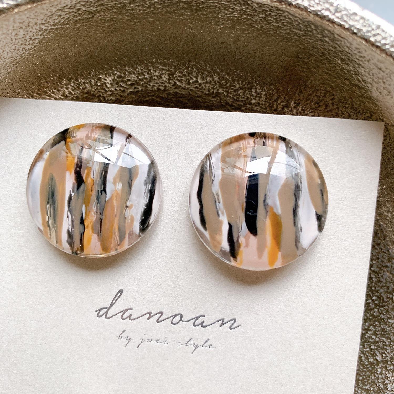 """"""" Earrings NO.danoan-62″ ペイント一粒ストライプ"""