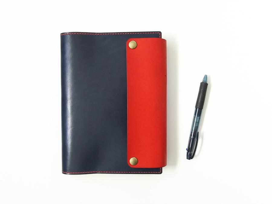【A5対応サイズ】バイカラーの手帳カバー