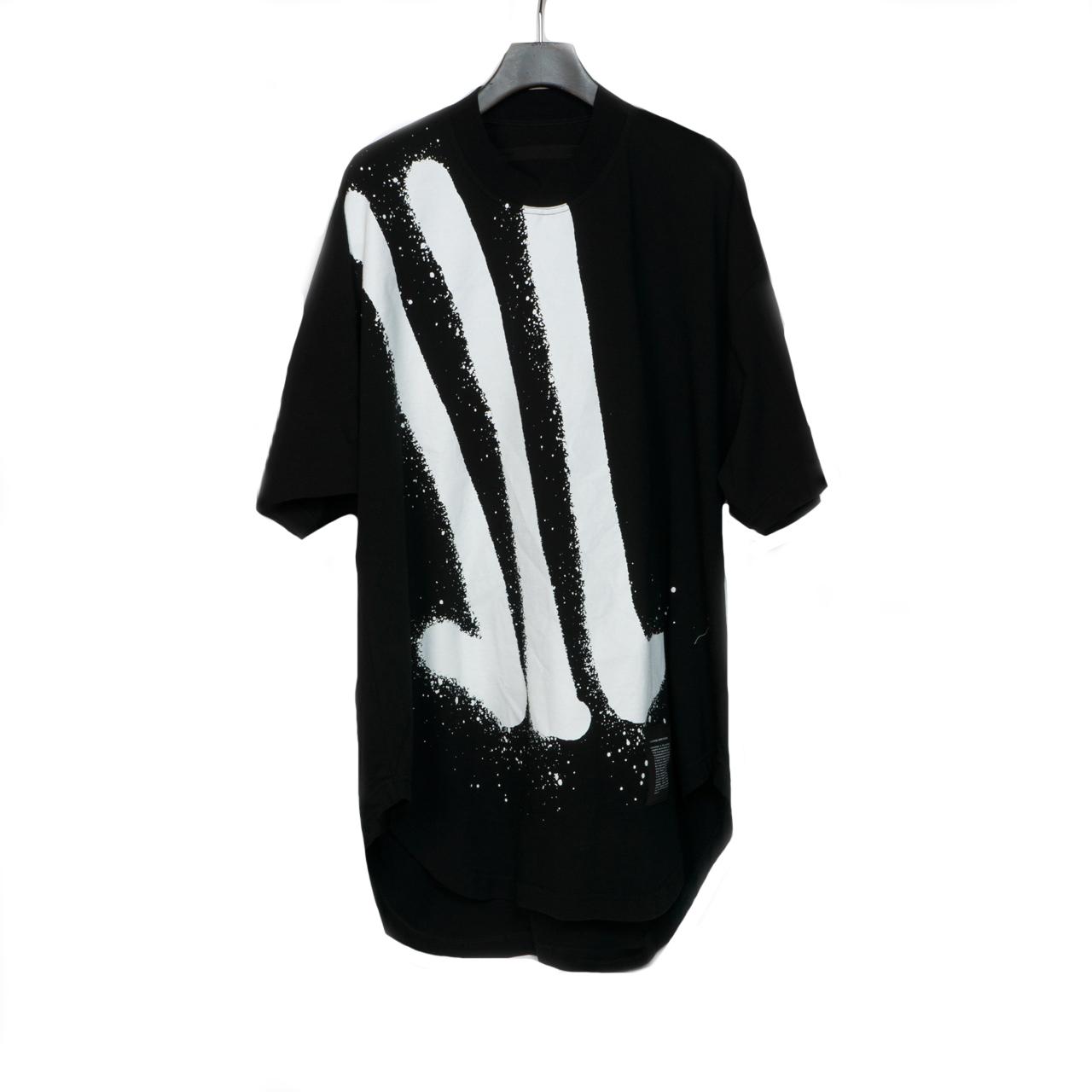 700CPM2-BLACK / グラフィティ家紋 ラウンド T シャツ