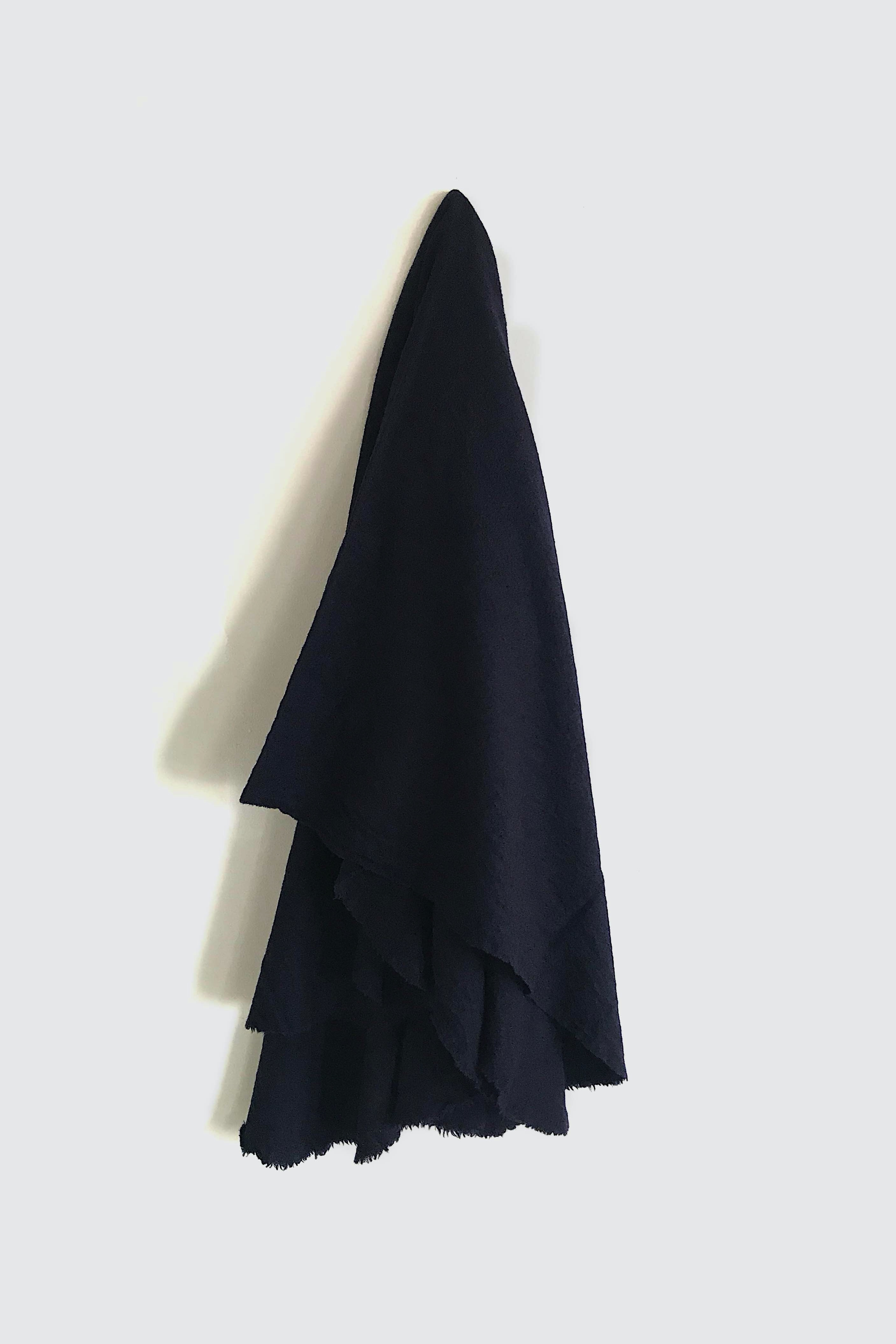 01473-4 muji cut stole / navy