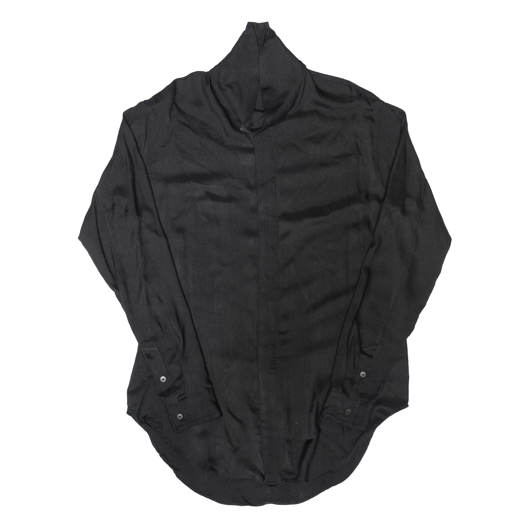 007SHM12-BLACK / ハイネックシャツ