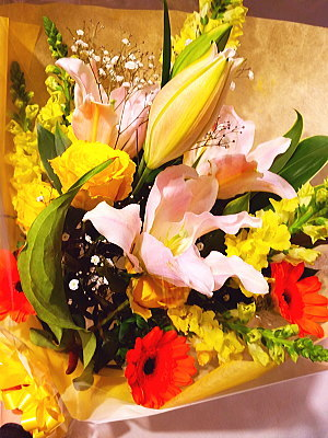 bu018 花束 黄色・オレンジ系