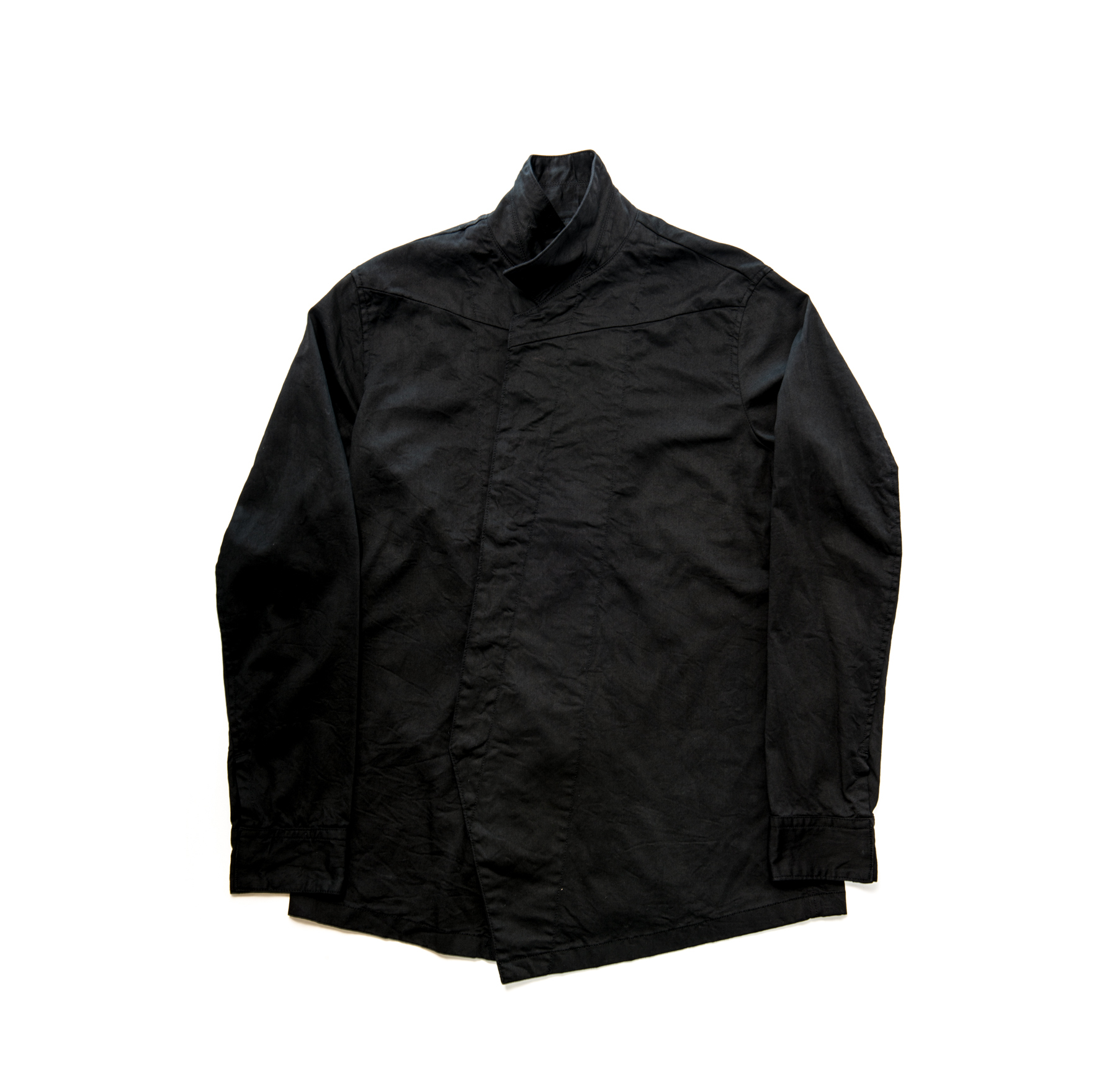 587BLM2-BLACK / スタンドカラーシャツジャケット