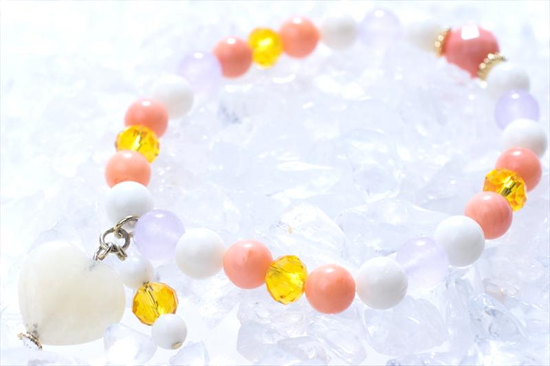 Coral sea stone【パワーストーンブレスレット 】 - 画像1