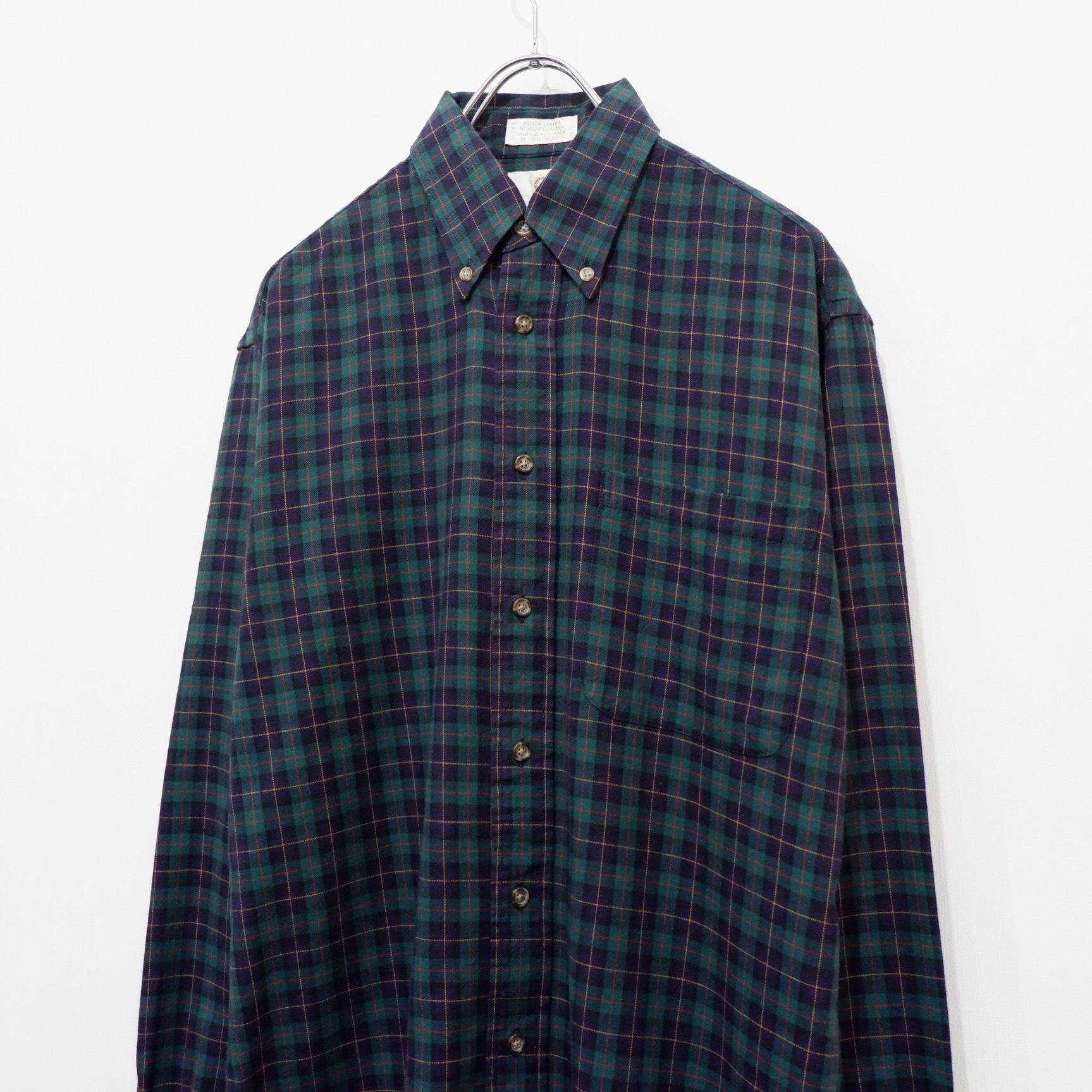 アメリカ古着 Canada製 チェックシャツ
