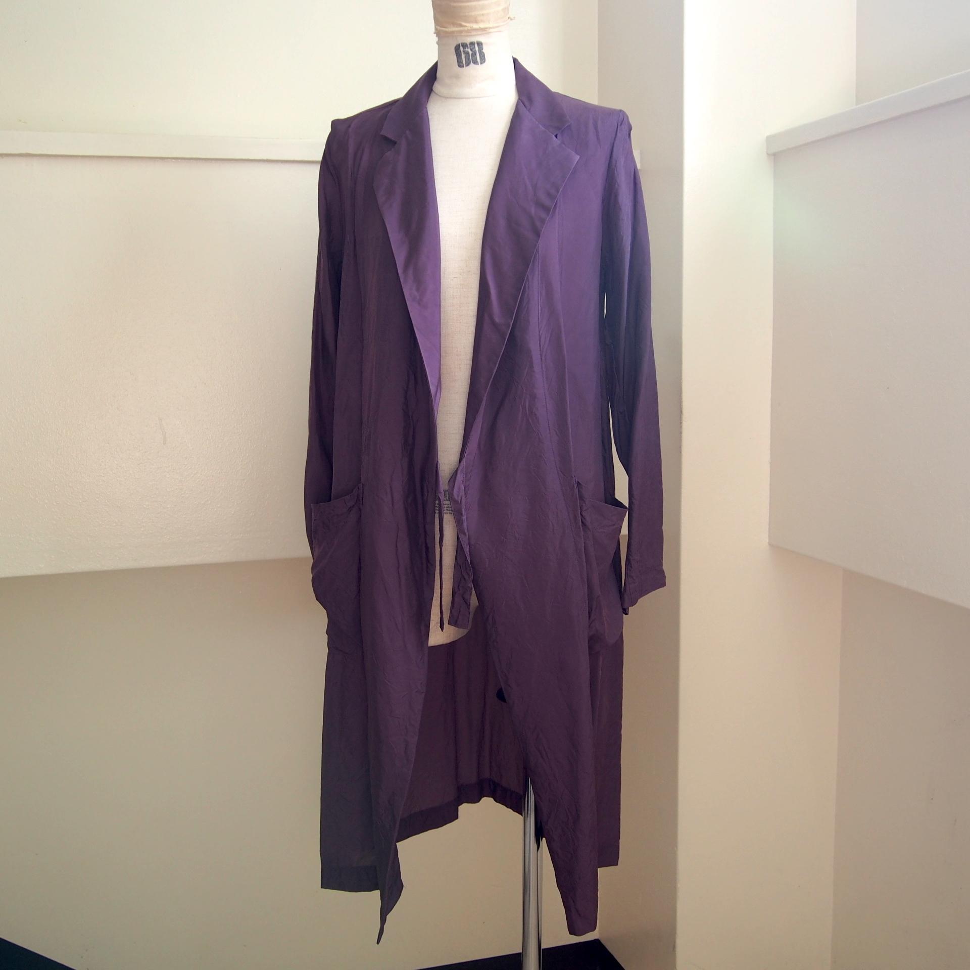 【hippiness】cupro coat(122purple) /【ヒッピネス】キュプラコート(122パープル)