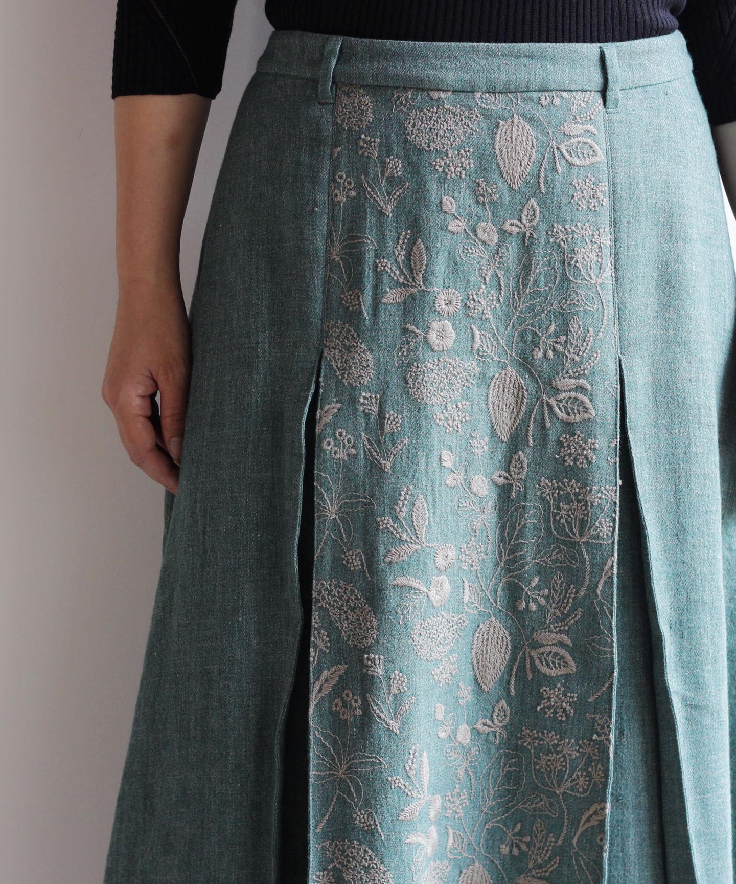 筆記帳刺繍スカート(mua206)
