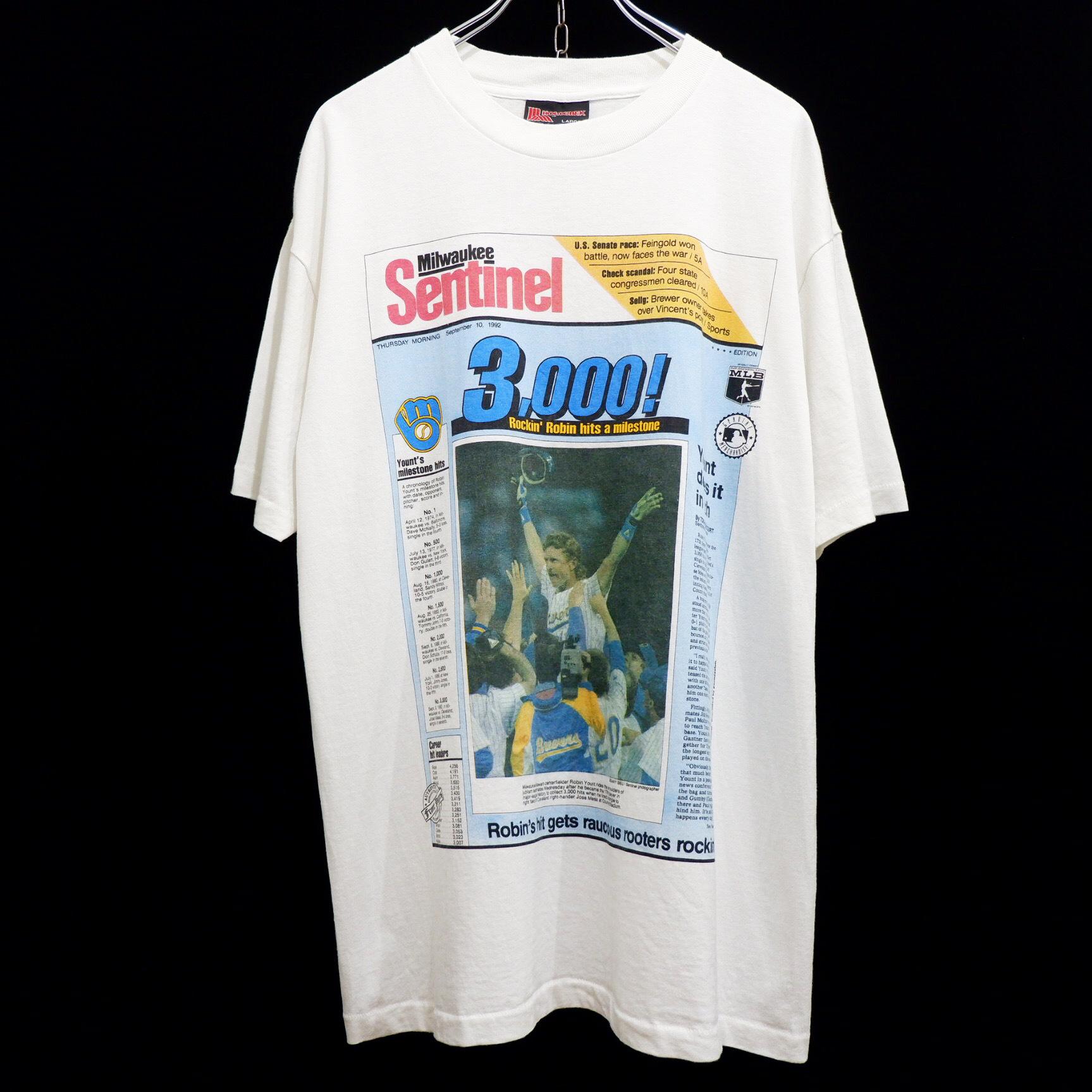 """アメリカ古着 1992s vintage """"Milwaukee Journal Sentinel"""" プリント Tシャツ"""