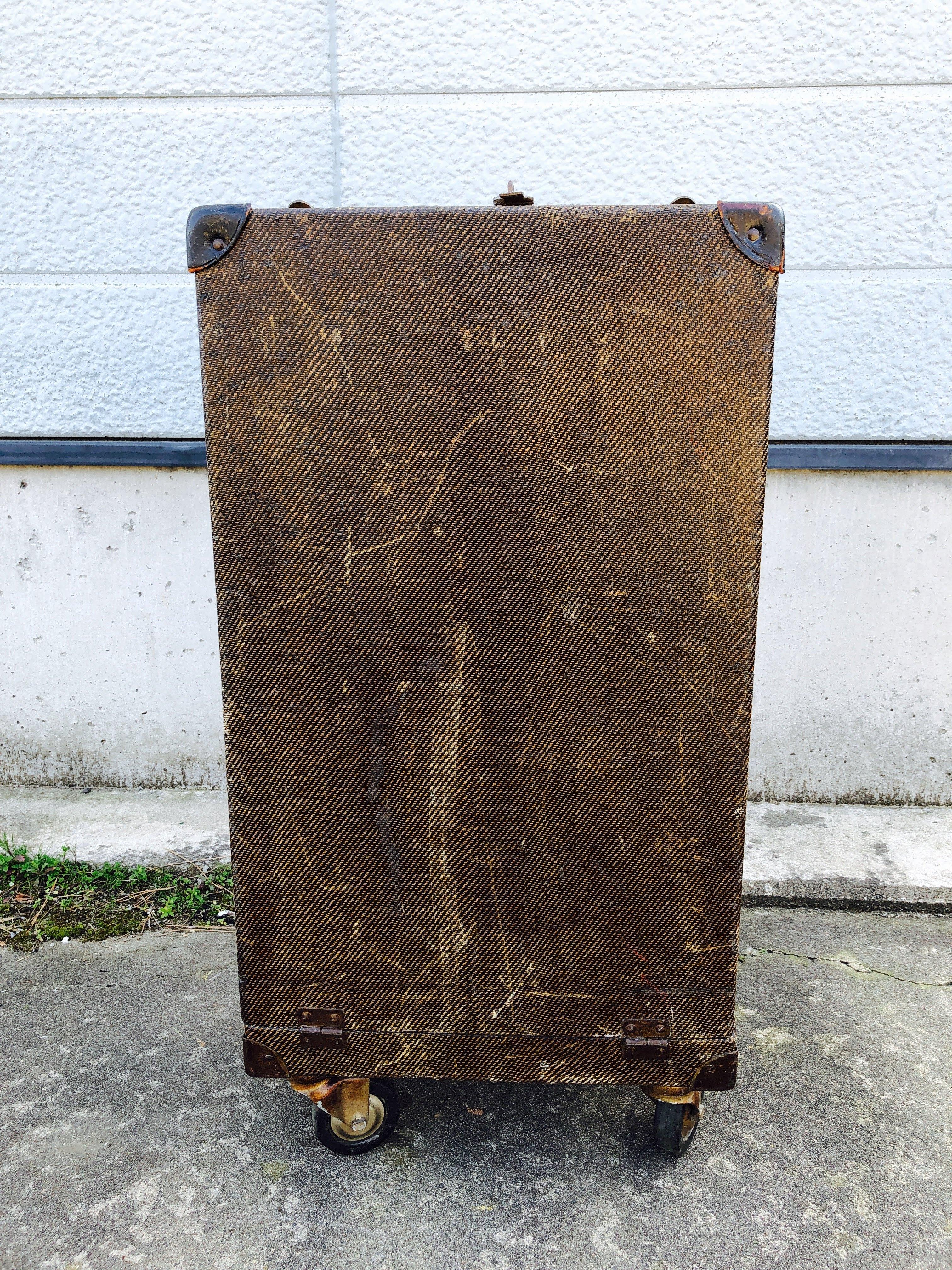品番0174 スーツケース トランク ブラウン アンティーク トラベルケース ヴィンテージ