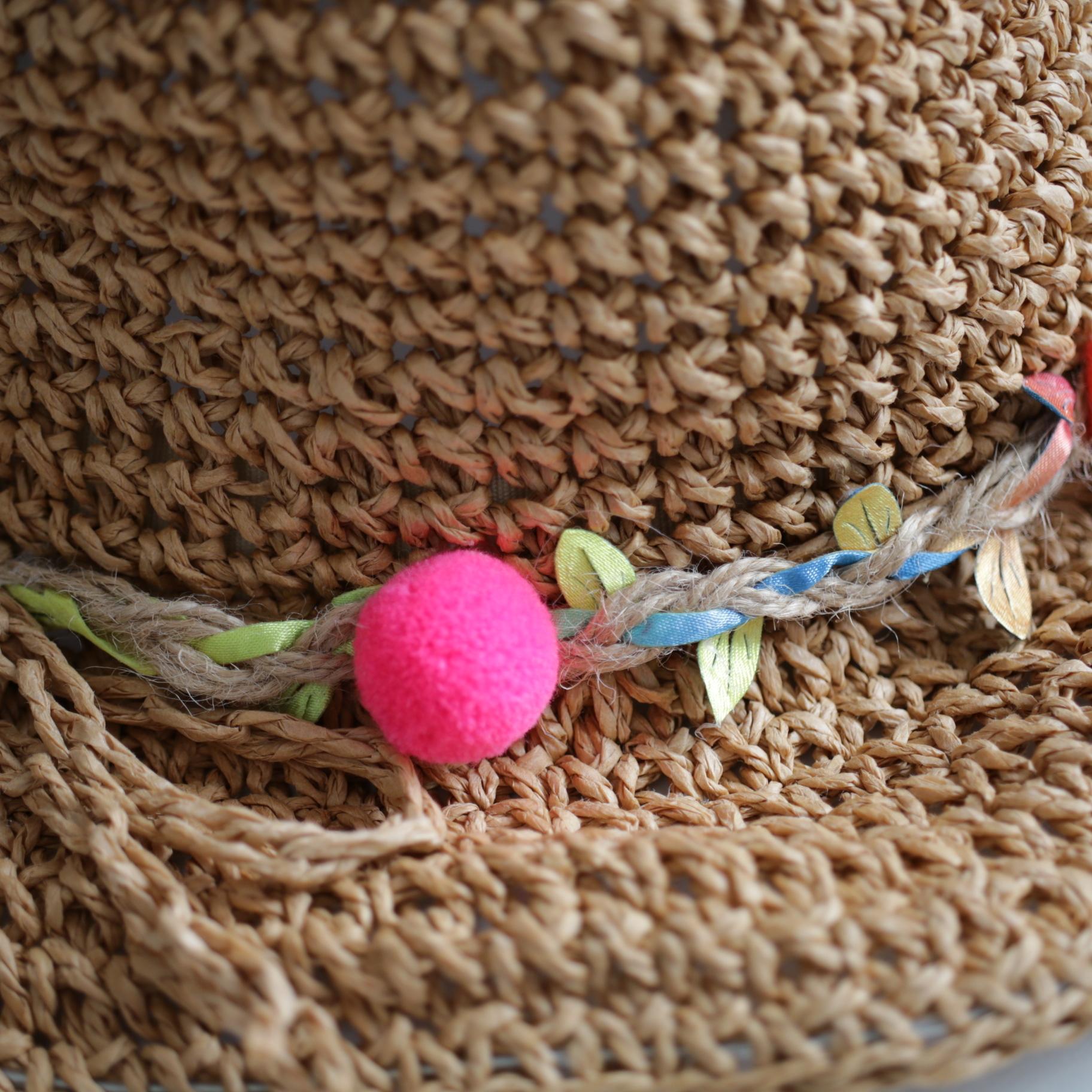 colorful straw  hat . 〔カラフル ストローハット〕
