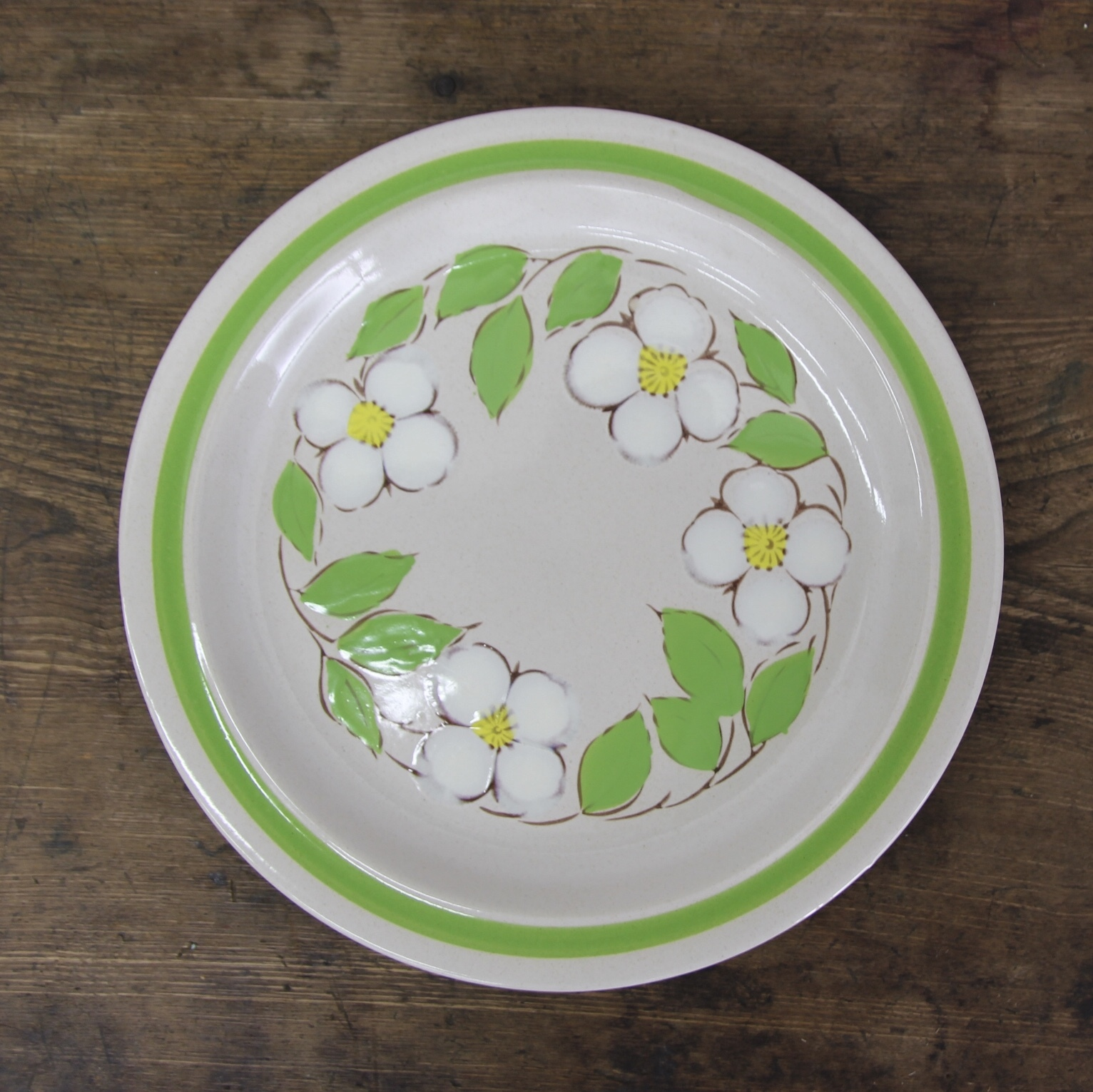 momoyama stoneware 花柄 在庫1枚