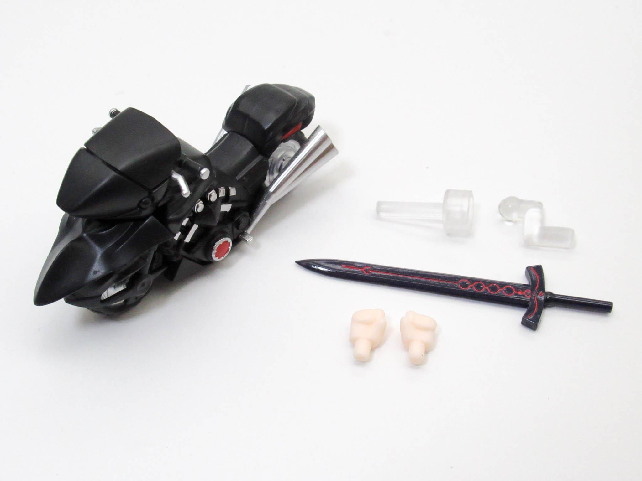 再入荷【1142DX】 セイバーオルタ 新宿Ver.&キュイラッシェ・ノワール 小物パーツ バイクと剣 ねんどろいど