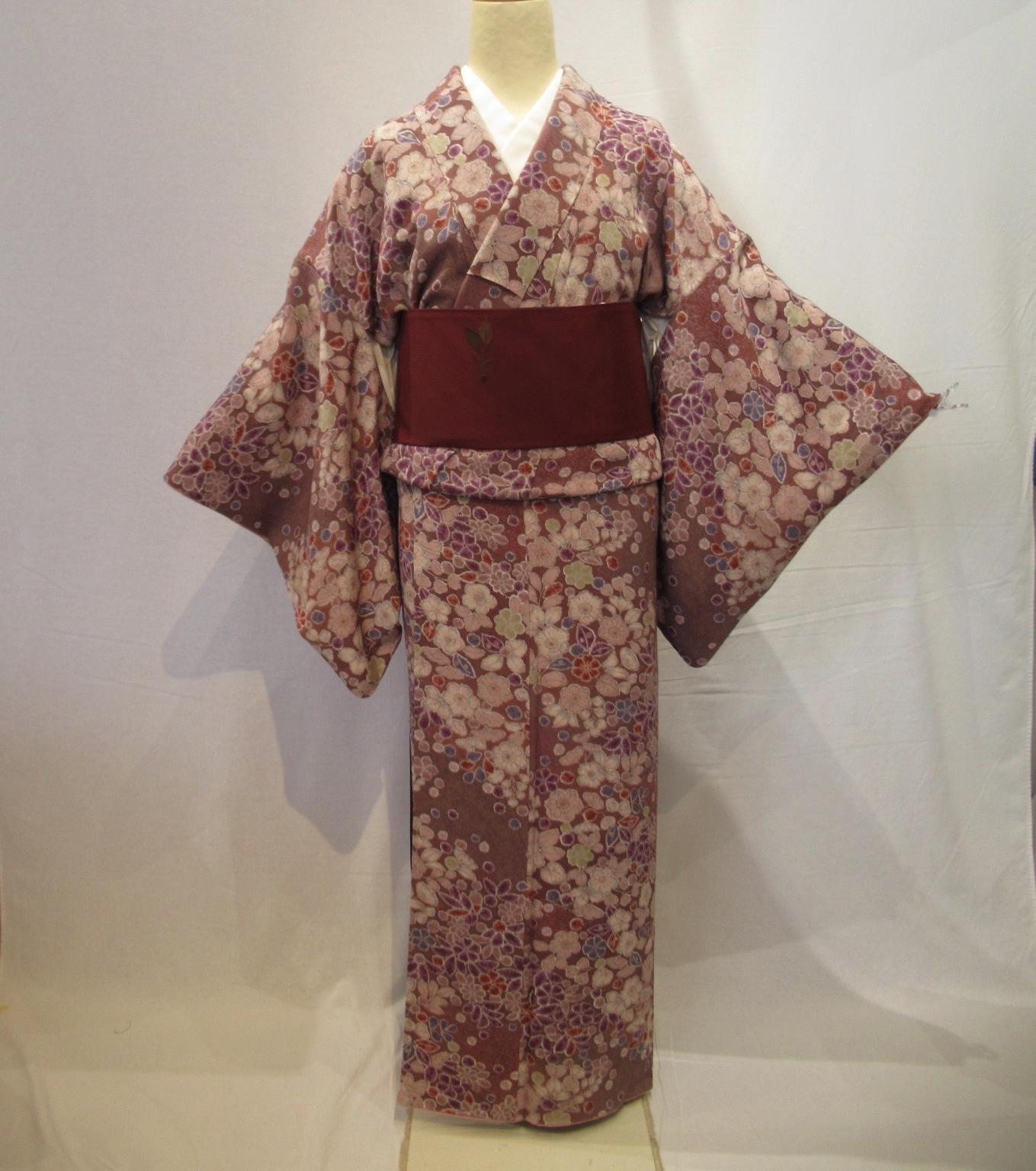 1967高身長辻ヶ花染小紋と洒落袋帯セット